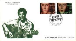 Albanian Stamps 1995. ELVIS PRESLEY. FDC Set Mich. 2583-2584 - Albania