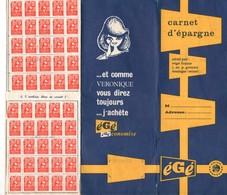Carnet D'épargne égé, 6 Volets, Complets De Timbres Argent Collés, Promodès, (manque 2 Timbres Uniquement) - Publicités