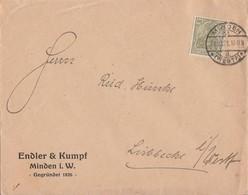 DR Werbebrief Minden Engler & Kumpf EF Minr.147 Minden 21.10.21 - Briefe U. Dokumente
