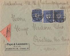 DR NN- Brief Mef Minr.3x 202 Hamburg 9.11.22 Geprüft - Deutschland