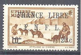 """Saint Pierre Et Miquelon: Yvert N° 274*; Signé """"Calves"""" - St.Pierre Et Miquelon"""