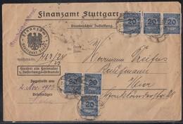 DR Ortsbrief Mif Minr.5x 312A,6x 319A Stuttgart 1.11.23 - Deutschland