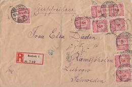 DR R-Brief Mef Minr.9x 317 Rostock 30.10.23 Gel. Nach Schweden - Deutschland