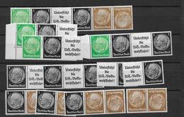 1940 MNH Germany Lot Einheitsgebe 2,  Postfris** - Se-Tenant