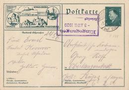 DR Ganzsache Minr.P188/09 Koserow 2.8.29  Seedienst Ostpreussen - Deutschland