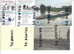 1 Calendriers  De L'Office De Tourisme Bac à Chaine  1997- DOMPIERRE-SUR-CHARENTE (17) + Reproduction Carte Double Port - Calendriers