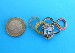 OLYMPIC GAMES MUNICH 1972. - Large Enamel Porcelain Pin Badge * Olympia Olympiade Olympische Spiele Germany Munchen '72 - Apparel, Souvenirs & Other
