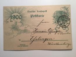 GÄ38657 Deutsches Reich Ganzsache Stationery Entier Postal P 43IIBbd Von Ouint Nach Esslingen - Deutschland