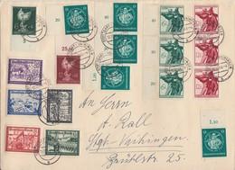 DR Brief Mif Minr.773-778,5x 896,3x 8897,3x 898,902,903 Stuttgart-Vaihingen 16.10.44 - Deutschland