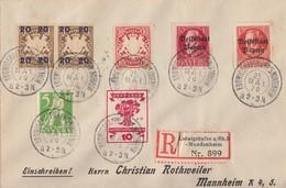 Bayern R-Brief Mif Minr.56,119,120,2x 177,178, DR Minr.107 Ludwigshafen 25.5.20 - Bavaria