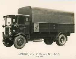 Original Photograph - Post Office Telephones - Maudslay 6 Tonner - June 1931 (27 X 21cm) - Photographs