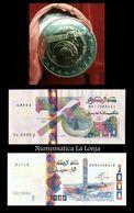 Argelia Algeria New 2019 Coin & Banknotes 100 500 1000 Dinars Satellite SC UNC - Argelia
