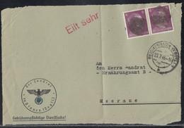 SBZ Briefvorderseite Schwärzung Minr.2x AP 785 Reichenbach (Vogtl.) 23.7.45 - Sowjetische Zone (SBZ)