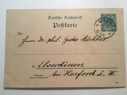 GÄ38657 Deutsches Reich Ganzsache Stationery Entier Postal P 30I Von Weener Nach Elverdissen - Deutschland