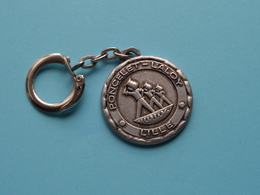 PONCELET - LALOY LILLE Charbons Mazout SHELL Tel 54.78.92 ( Key Chain - Porte Clé / Sleutelhanger / Zie - Voir Photo ) - Porte-clefs