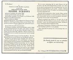 P 922. E.H. EUGENE SCHOOFS - °TERNAAIEN 1894 / LUIK / TONGEREN / GENK /BINDERVELD/ +ST-TRUIDEN 1958 - Images Religieuses