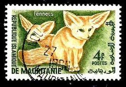 MAURITANIE 144° 4f Vert Et Jaune Activités Traditionnelles Et Animaux Fennecs(10% De La Cote + 0,15) - Mauritanie (1960-...)