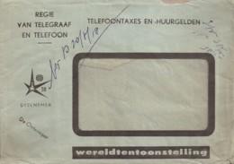 Regie Van Telegraaf En Telefoon (enveloppe) Expo58 - Belgique