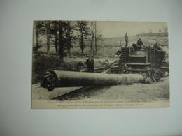 Guerre 14.18 Canon De 380 Allemand Capture Par Australiens Pres Chulgnes - Weltkrieg 1914-18