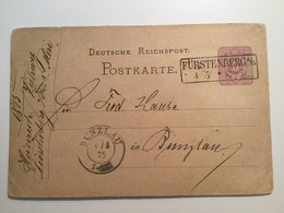GÄ38657 Deutsches Reich Ganzsache Stationery Entier Postal P 5II Von Fürstenberg Nach Bunzlau - Deutschland
