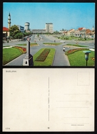 1970's BIJELJINA / Mosque Džamija Minaret / Orthodox Church Cathedral - Partisan Monument YUGOSLAVIA - Bosnia / Postcard - Islam