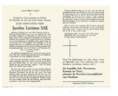 P 925. E.H. JACOBUS SAK - °HECHTEL 1881 / LUIK/ Leraar PEER/ OOSTHAM/ - + LUBBEEK 1961 - Images Religieuses