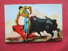 Signed Artist-- Bull Fighter      Ref 3235 - Corrida
