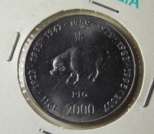 Somalia 10 Shillings 2000 Pig Varnished - Somalia