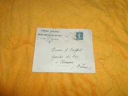ENVELOPPE UNIQUEMENT DE 1926. / SYNDICAT SERICICOLE DE SAINT BARTHELEMY DE VALS DROME & DE LA REGION..CACHETS + TIMBRE - Marcophilie (Lettres)