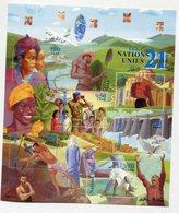 NATIONS UNIES GENEVE (SUISSE) 1 Feuille De 6 T Xx N°YT 409 à 414 - 2000 Les Nations-Unies Au 21 ème Siécle - Genf - Büro Der Vereinten Nationen