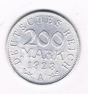 200 MARK 1923 A DUITSLAND /2576// - [ 3] 1918-1933 : Republique De Weimar