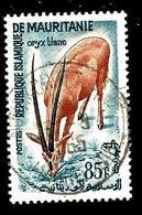 MAURITANIE 153° 85f Bleu, Brun-orange Et Sépia Activités Traditionnelles Et Animaux Oryx Blanc (10% De La Cote + 0,15) - Mauritanie (1960-...)