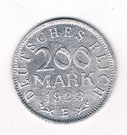 200 MARK 1923 E DUITSLAND /2577// - [ 3] 1918-1933 : Republique De Weimar