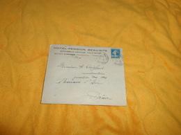 ENVELOPPE UNIQUEMENT DE 1925. / HOTEL PENSION BEAU SITE. BONNE SUR MENOGE..CACHETS + TIMBRE - Storia Postale