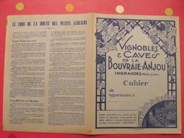 Protège-cahier Vignobles & Caves De La Bouvraie-Anjou. Ingrandes (maine & Loire). Grandin - Protège-cahiers