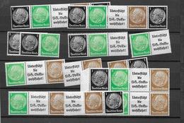 1939 MNH Germany Lot Einheitsgebe 1,  Postfris** - Se-Tenant