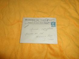 ENVELOPPE UNIQUEMENT DE 1925..BRASSERIE DU VAUX HALL. E. RIEU PROPRIETAIRE ARLES SUR RHONE..CACHETS + TIMBRE - Storia Postale
