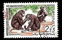 MAURITANIE 168° 2f Brun, Vert Et Rose Faune Animaux Babouins (10% De La Cote + 0,15) - Mauritanie (1960-...)