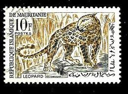 MAURITANIE 170° 10f Gris Et Ocre Faune Animaux Léopards (10% De La Cote + 0,15) - Mauritanie (1960-...)
