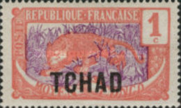 """MH STAMPS Chad - Middle Congo Types Overprinted """"TCHAD"""" -1922 - Tschad (1922-1936)"""