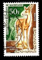 MAURITANIE 175° 50f Brun-rouge, Brun-jaune Et Vert Faune Animaux Gazelle (10% De La Cote + 0,15) - Mauritanie (1960-...)