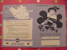 Protège-cahier Fleury-Michon. La Légende De Gargantua. Grimaud. Pouzauges Concarneau. Conserves Salaisons Saucissons - Protège-cahiers