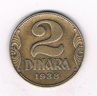 2 DINAR 1938  SERVIE /2591/ - Serbia