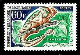 MAURITANIE 176° 60f Émeraude, Bleu Et Brun Faune Animaux Caméléon (10% De La Cote + 0,15) - Mauritanie (1960-...)