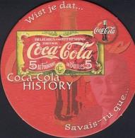 Dessous-verre  -  Bierdeckel  - Beer-Map      Coca-Cola HISTORY  Wist Je Dat---Savais Tu Que  2 Scans - Sous-bocks