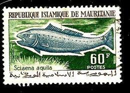 MAURITANIE 182° 60f Vert-jaune, Gris-bleu Et Vert-olive Poissons Et Crustacés Sciaena Aquila (10% De La Cote + 0,15) - Mauritanie (1960-...)
