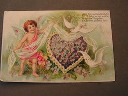 Poesie Karte Litho Mit Engel , Angel Aus Bosenbach 1918 Kl. Bug Ecke - Anges