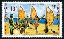 POLYNESIE 1966 - Yv. PA 21 **   Cote= 15,50 EUR - Vive Tahiti, Danse  ..Réf.POL23567 - Airmail
