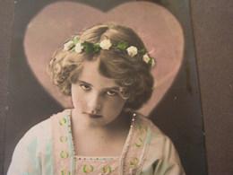 Schönes Mädchen Motiv, Mädchen, Portrait, Fillet, Girl, Child , Foto Belgien 1912 - Abbildungen
