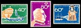 POLYNESIE 1968 - Yv. PA 22 23 Et 24 **   Cote= 37,20 EUR - Découverte De Tahiti (3 Val.)  ..Réf.POL23570 - Luftpost